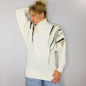 Vintage Lerner classic 80s embroidered sweater